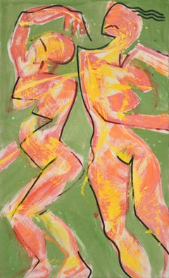 Two Dancing Figures - Abstract Figurative