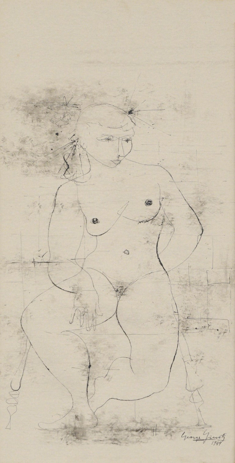 Seated Nude 1949 For Sale 1