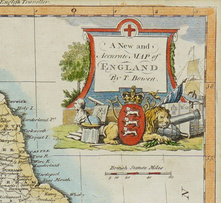 18th Century Accurate Map of England For Sale 2