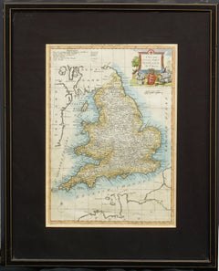18th Century Accurate Map of England