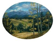 Sierra Mountains in Autumnal Landscape