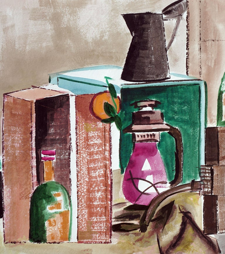 Country Kitchen Still Life - Painting by Diane Baldwin