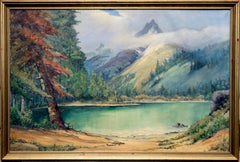 Mountain Lake Sequoia Landscape