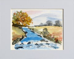 Stream in Autumn - Landscape