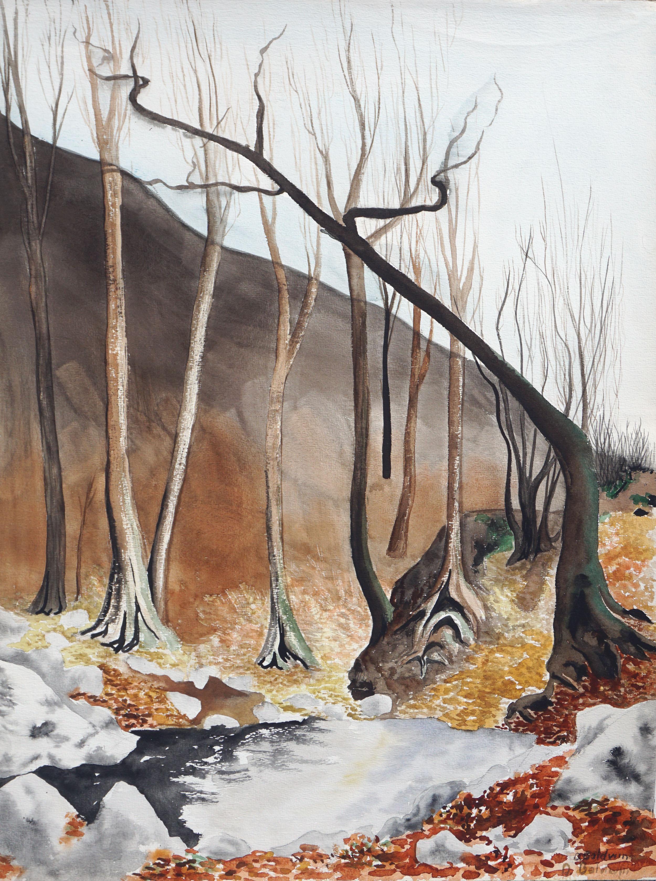 Aspens in Winter Landscape
