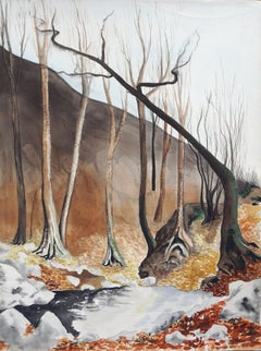 Aspens in Winter Landscape