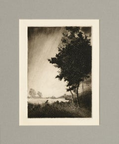 Dawn Breaking in the Field - Lithograph