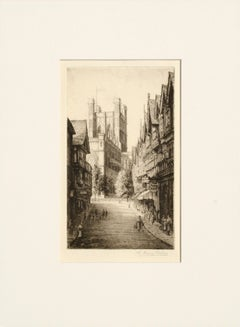 British Street Scene - Etching