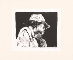 Elderly Man with a Hat - Etching