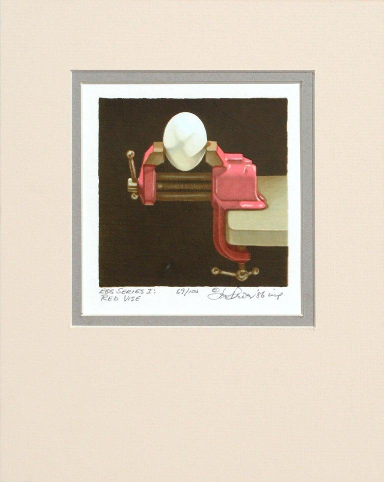 "Joe Price Still-Life Print - ""Egg Series I: Red Vise"" 51-Screens Serigraph"