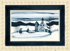 Country House in the Snow - Landscape