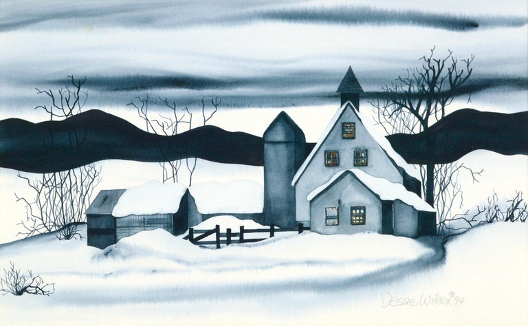 Country House in the Snow - Landscape For Sale 1
