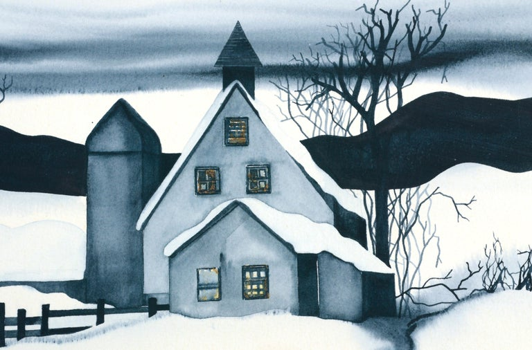 Country House in the Snow - Landscape For Sale 2