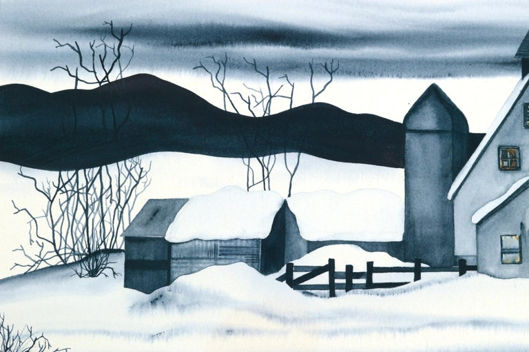 Country House in the Snow - Landscape For Sale 3