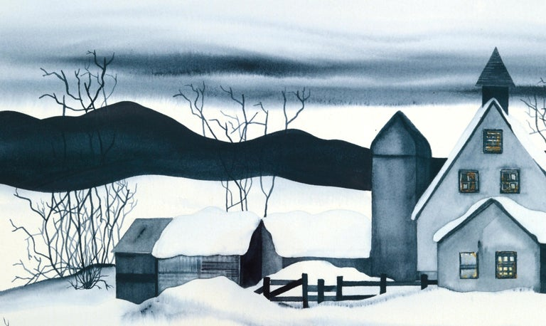 Country House in the Snow - Landscape For Sale 4