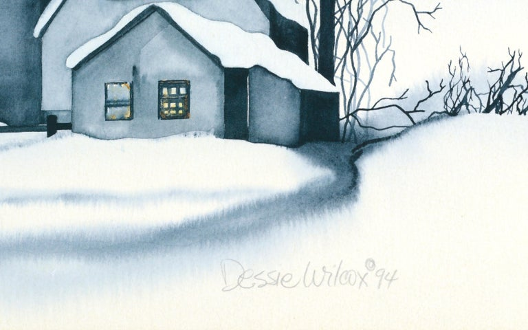 Country House in the Snow - Landscape For Sale 5