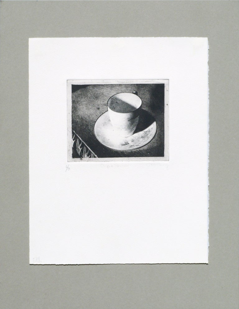 Claudette McElroy Still-Life Print - Cup & Saucer (Grandmother's Artifacts) - Photo Etching