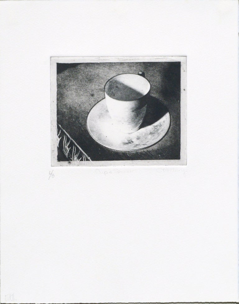 Cup & Saucer (Grandmother's Artifacts) - Photo Etching - Print by Claudette McElroy