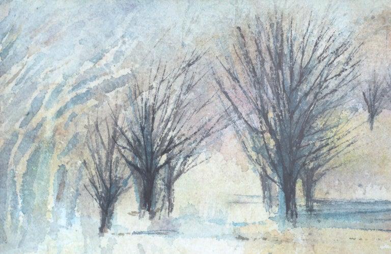 Serene winter landscape by Grace Eichholz (American, b. 1927). Signed