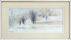 """Icy Pond"" Landscape"
