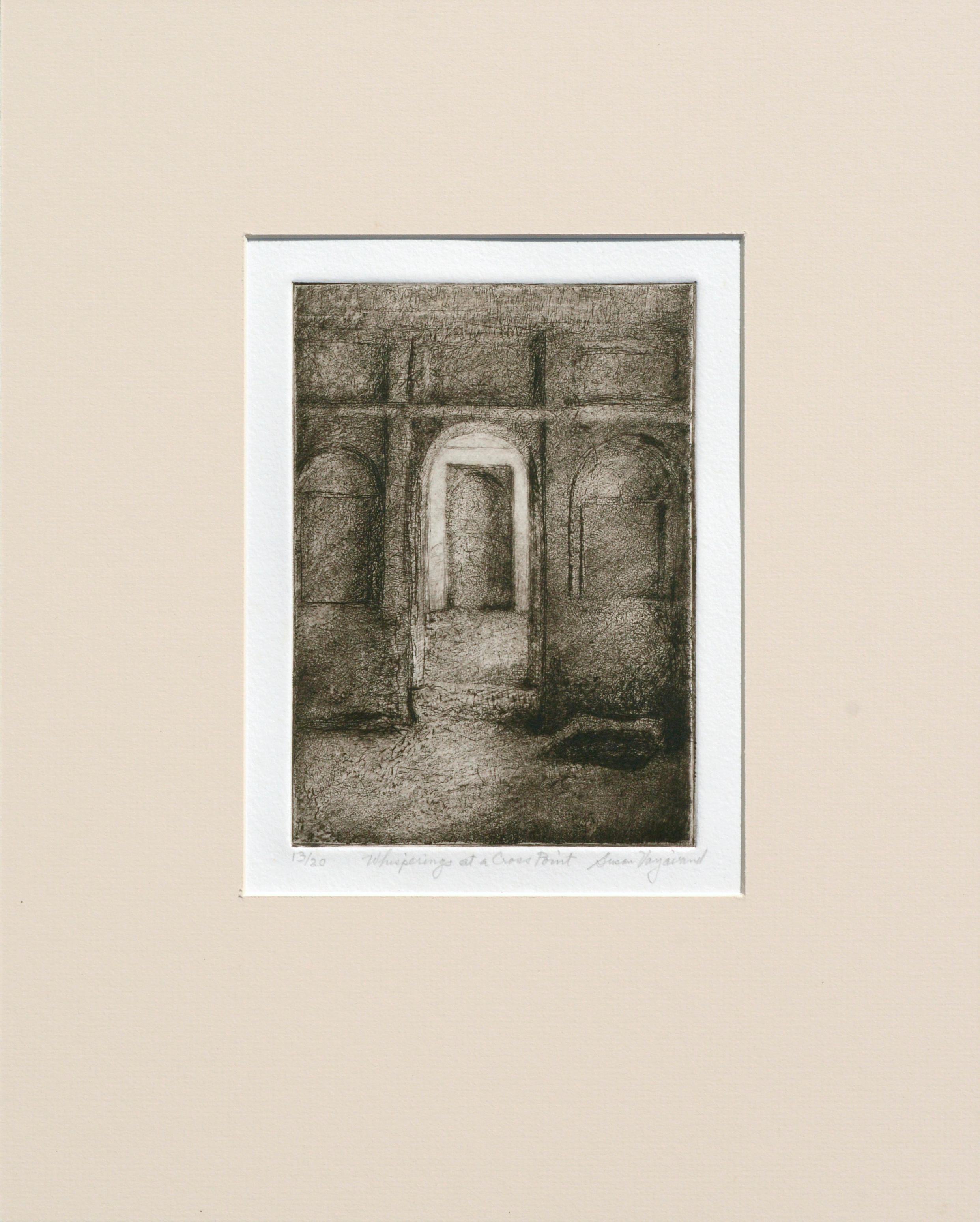 """""""Whisperings at a Cross Point"""" - Drypoint Etching"""