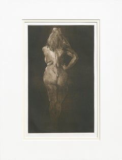 Nude from Behind - Drypoint Etching