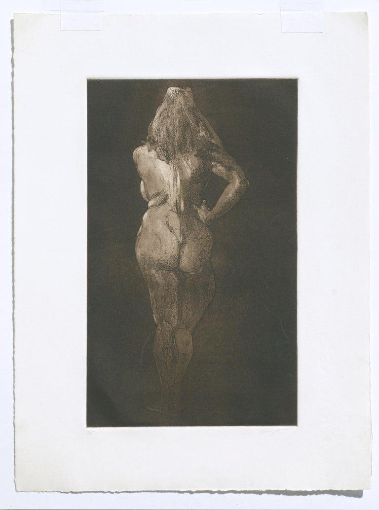 Nude from Behind - Drypoint Etching For Sale 1