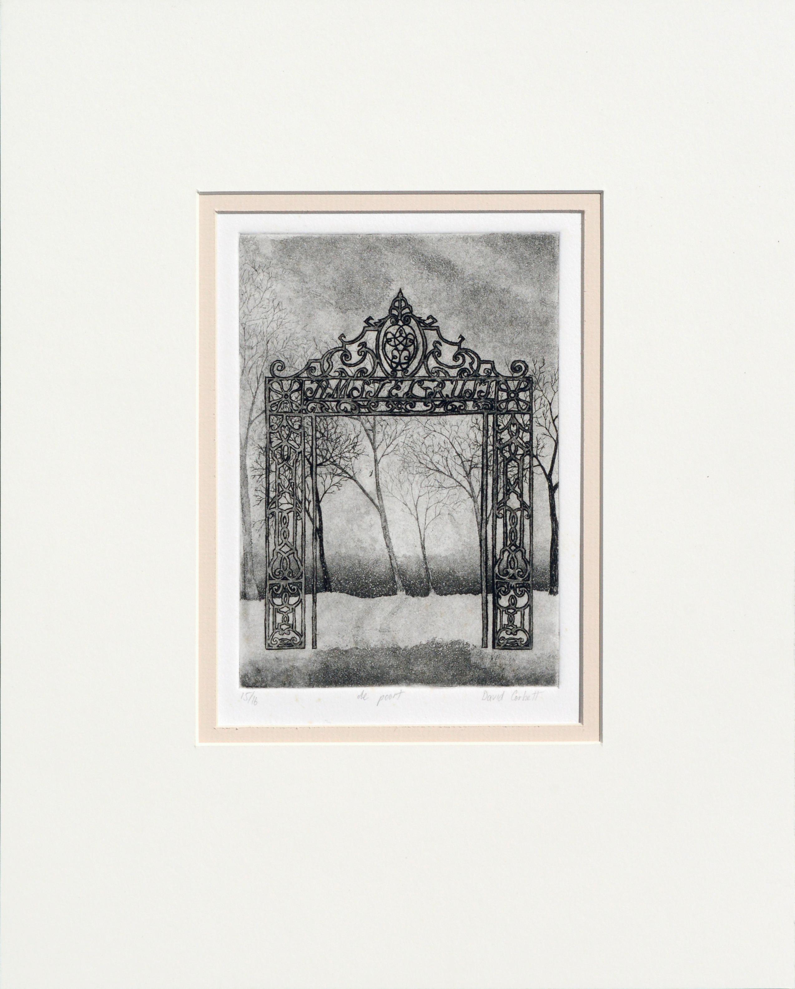 """de poort"" - The Gate Lithograph"