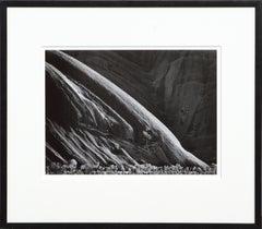 Morning, Ayers Rock, Australia - Black & White Landscape Photograph