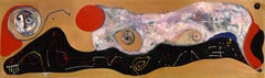 """The Playful Journey"" Acrylic on Copper Abstract Composition 1997"