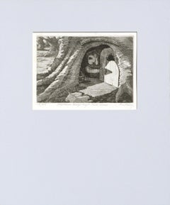 """""""Madame Hedgehog's Hole House"""" Drypoint Etching"""
