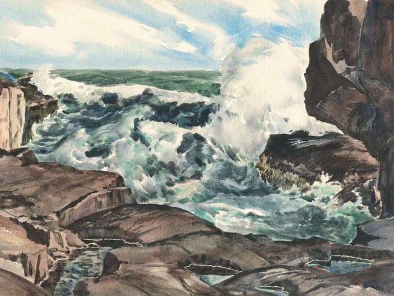 Bass Rocks in Cape Ann, Massachusetts - Seascape For Sale 1