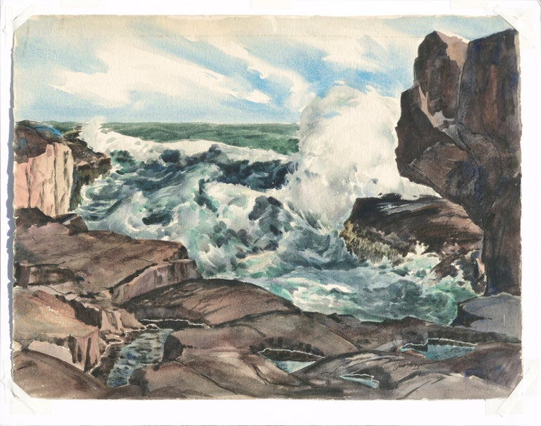 Bass Rocks in Cape Ann, Massachusetts - Seascape For Sale 2