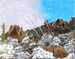 Snowfall in the Desert - Landscape