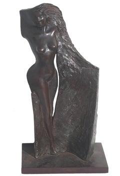 Modernist Bronze Sculpture of a Nude Woman
