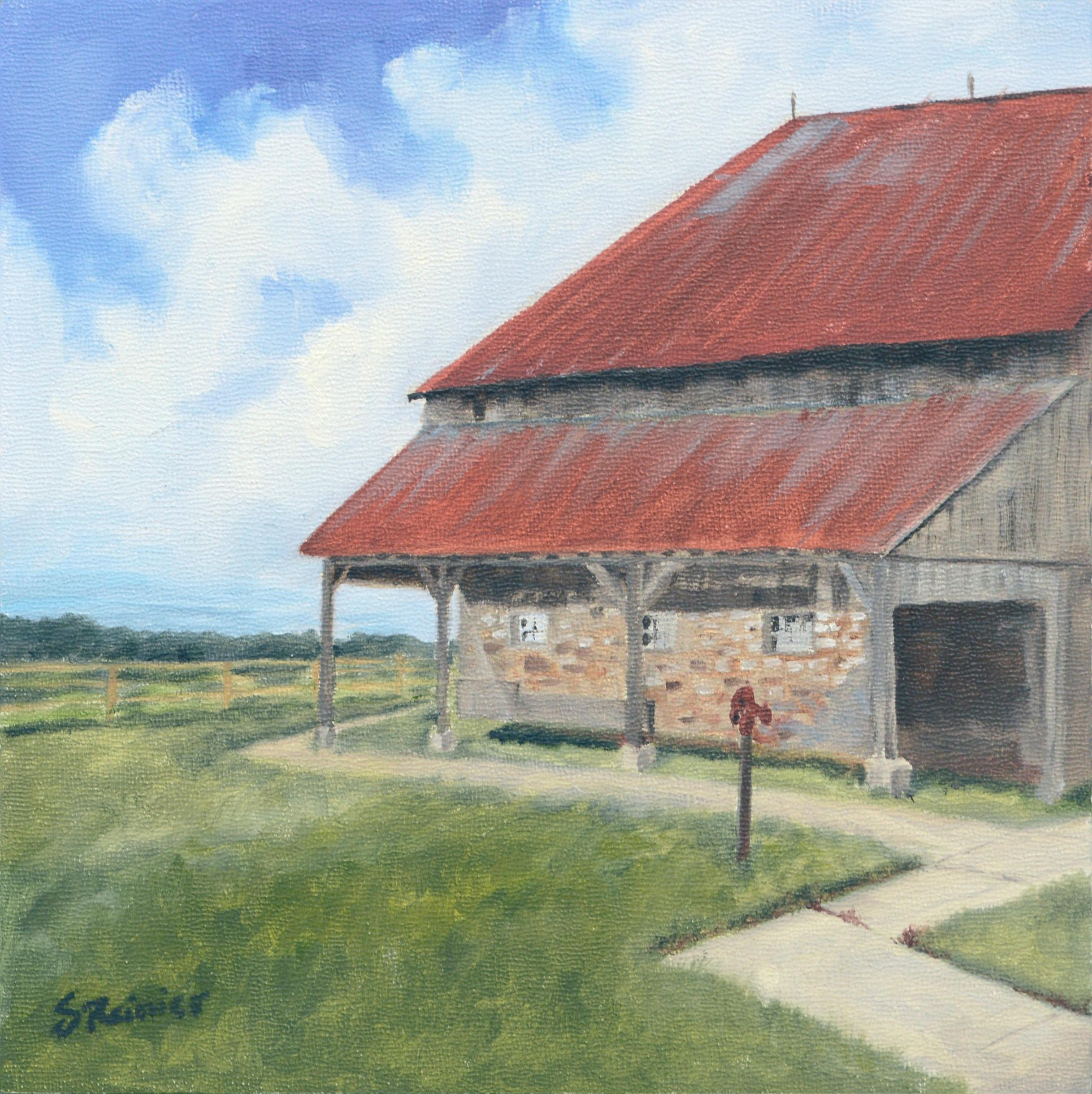Barn with a Red Roof - Landscape