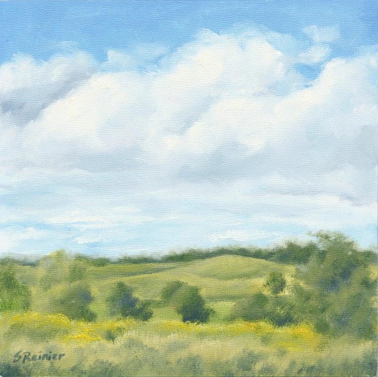 Susan Reinier Landscape Painting - Clouds Over Rolling Hills - Landscape
