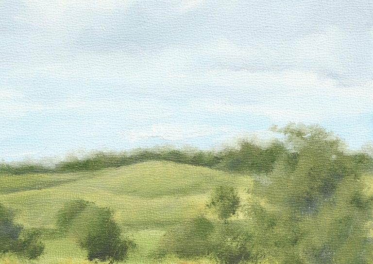Clouds Over Rolling Hills - Landscape - Painting by Susan Reinier
