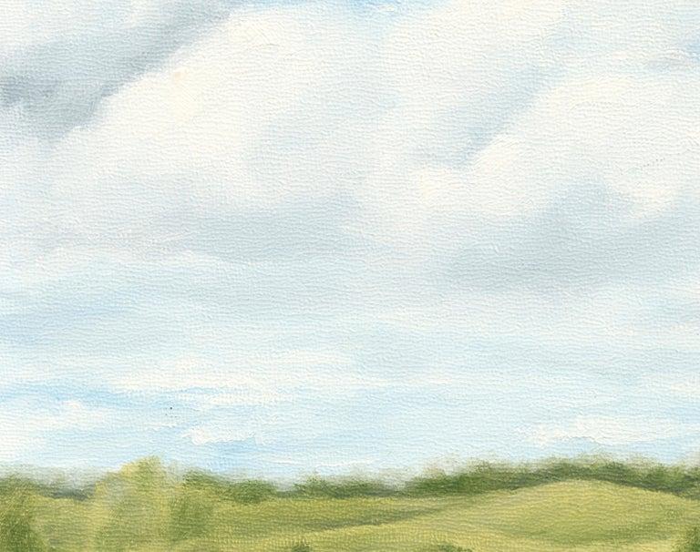 Clouds Over Rolling Hills - Landscape - Brown Landscape Painting by Susan Reinier