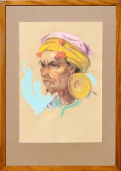 Portrait of a Philippine Man with Gold Ear Ornament Antonio Gonzales Dumlao