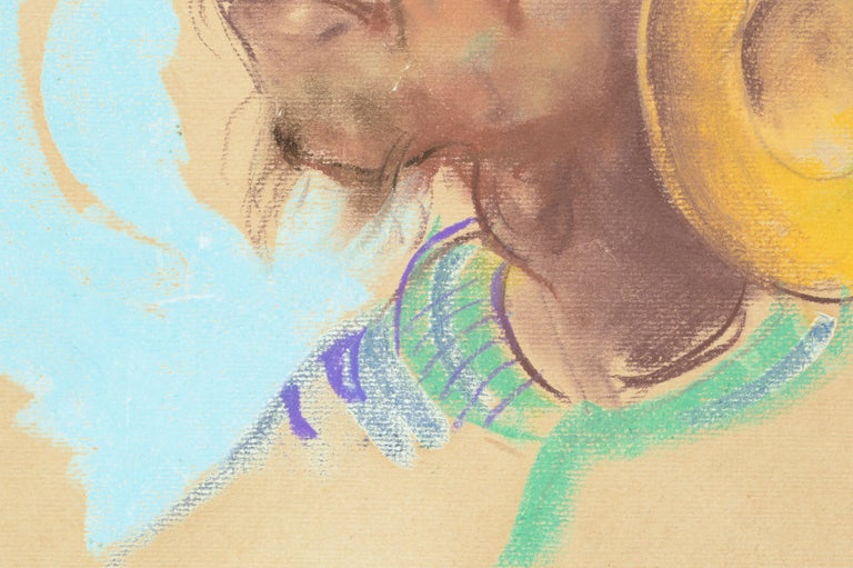 Portrait of a Philippine Man with Gold Ear Ornament Antonio Gonzales Dumlao For Sale 1