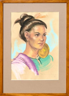 Portrait of a Woman with Gold Ear Ornament by Antonio Gonzales Dumlao