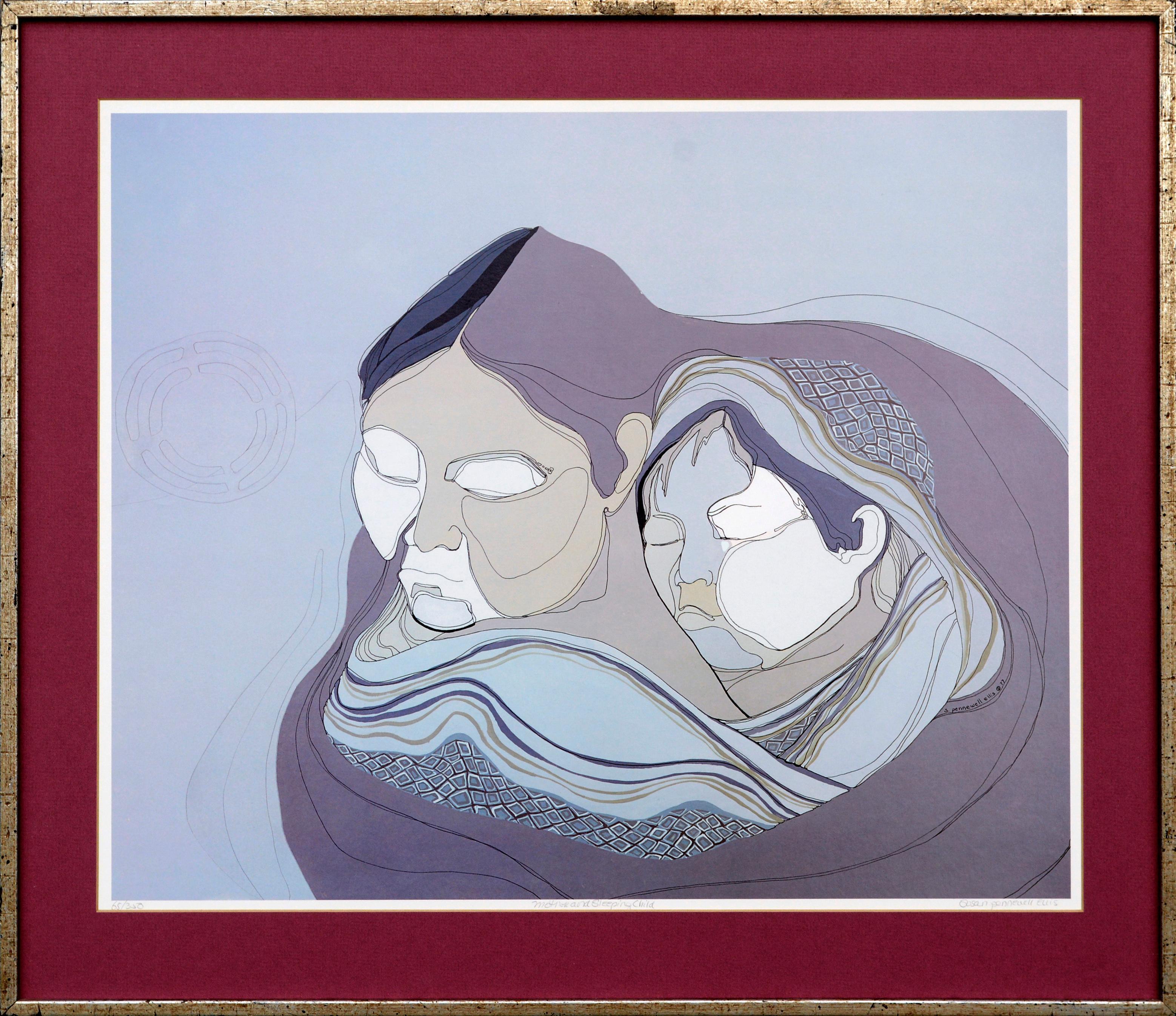 """""""Mother and Sleeping Child"""" Alaska"""