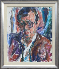 Portrait of Kenneth Lucas by Richard Lofton 1962 Serious Mid-Century