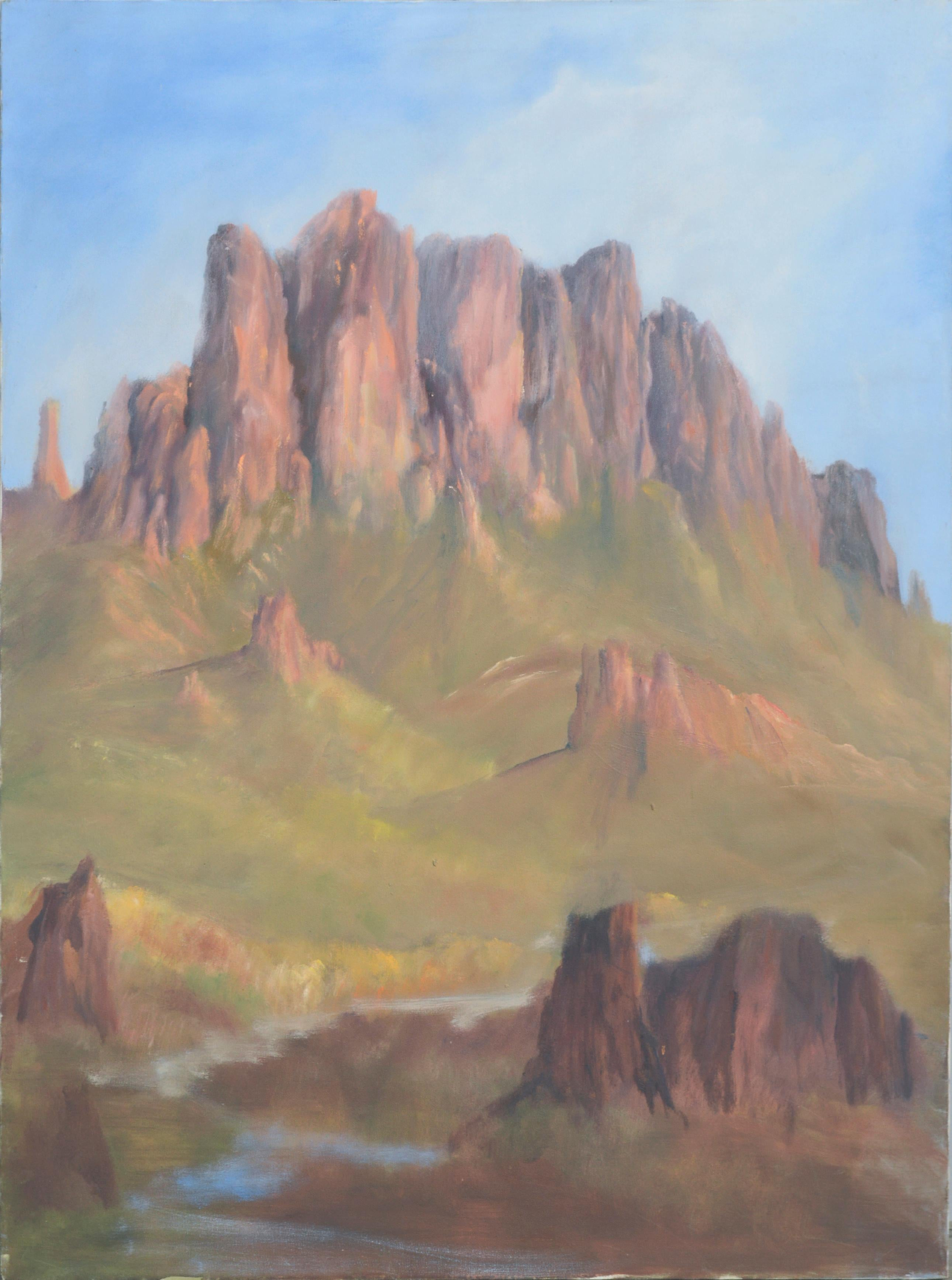 Superstition Mountains, Arizona - Landscape by Kenneth Lucas