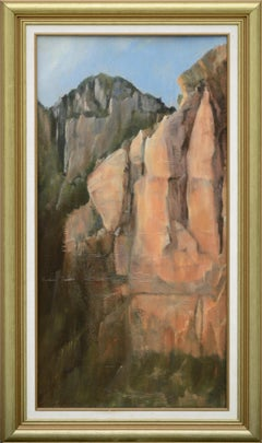 Red Cliffs - Vertical Landscape by Kenneth Lucas