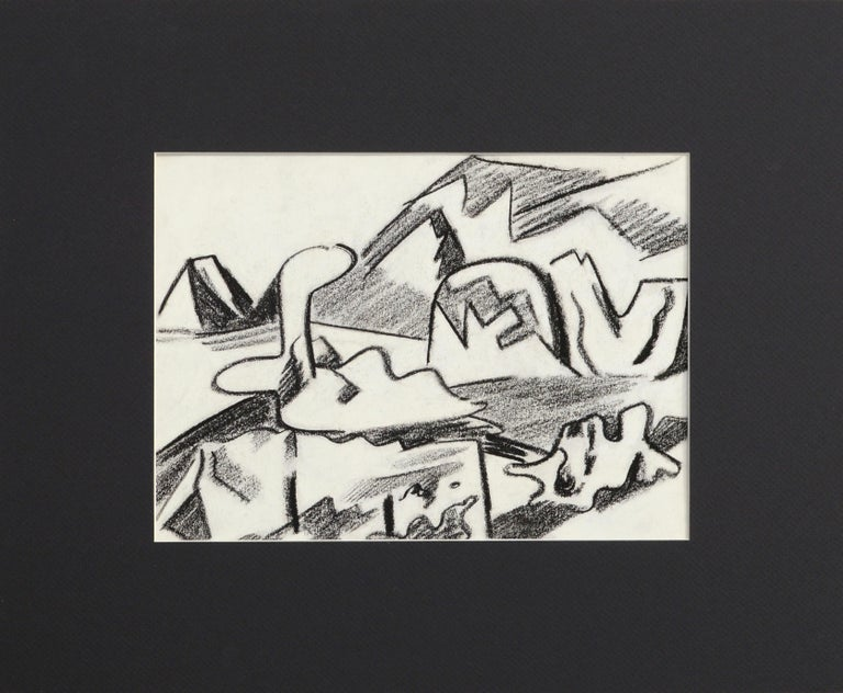 Erle Loran Abstract Drawing - Abstracted Bay Area Landscape