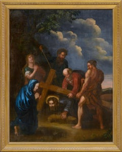 Christ Falls on the Way to Calvary Circa 17th-18th C. Dutch-Italianate School