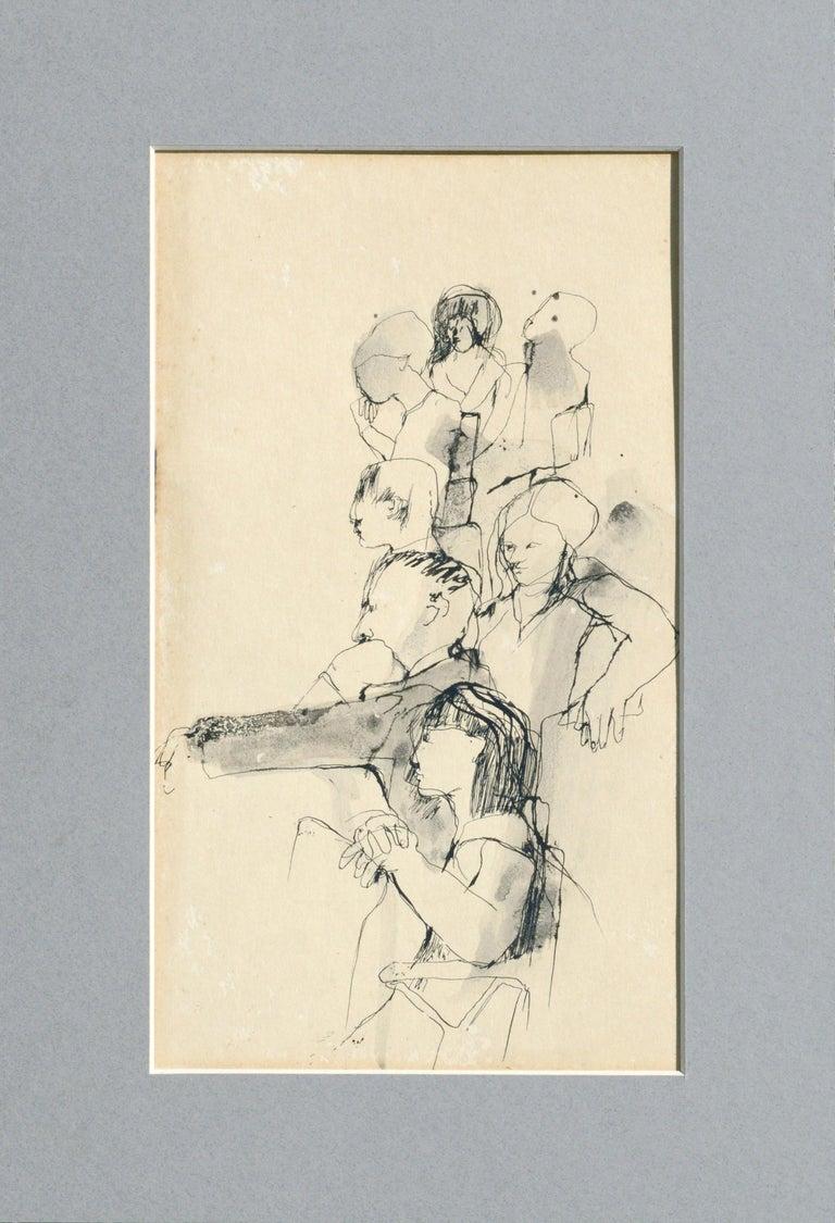 David Rosen (b.1912) Figurative Art - The Sketch Class - Figurative