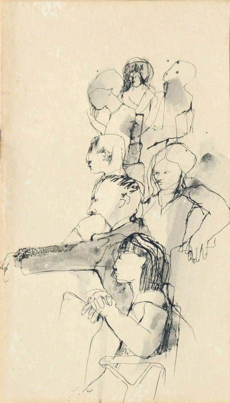 The Sketch Class - Figurative - Art by David Rosen (b.1912)